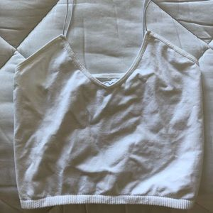 Free People white tight crop top